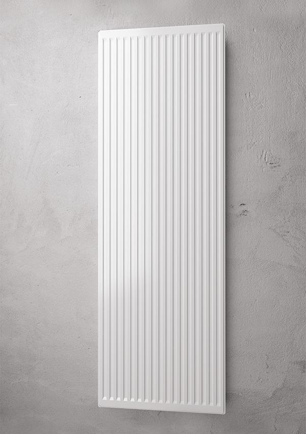 Radiatore verticale a piastra platella vertical profilata for Radiatori a piastra